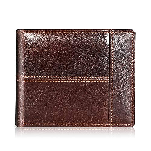 Mens Wallet Leather for $10.80 @Amazon