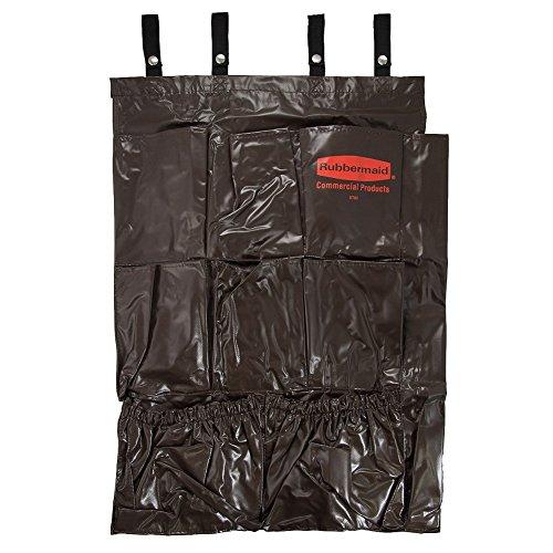 Rubbermaid 9-Pocket Tilt Truck Cart Caddy Bag Organizer Fits #9T020 Brown NylonTools Industrial