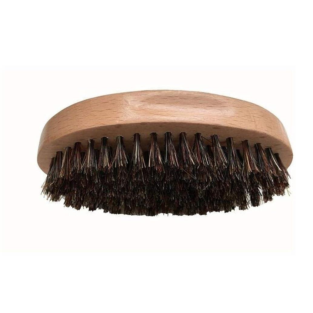 ハイジャックサービスマイクシェービングブラシ 男性 口ひげ ひげブラシ ラウンド櫛 メンズシェービングツール 理容 洗顔 髭剃り 泡立ち