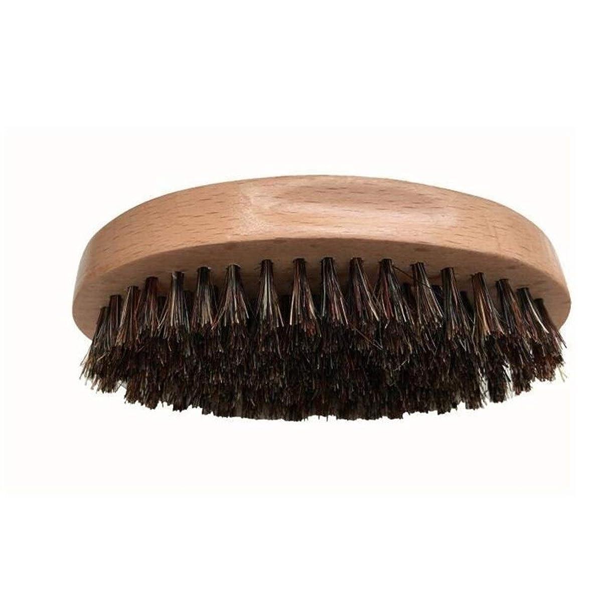 シェービングブラシ 男性 口ひげ ひげブラシ ラウンド櫛 メンズシェービングツール 理容 洗顔 髭剃り 泡立ち