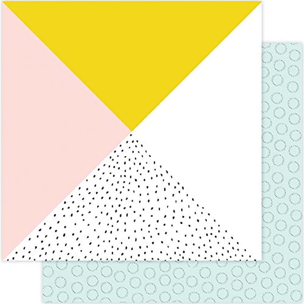 American Crafts 332669 25 Sheet 008 Seven Paper Goldie Double-Sided Cardstock, 12