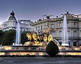 OKOUNOKO Rompecabezas para Adultos 1000 Piezas Fuente De Cibeles En Madrid Montaje De Madera Decoración para El Juego De Juguetes para El Hogar Explora La Creatividad Y La Resolución De Problemas