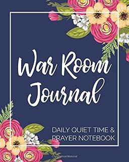 War Room Journal - Daily Quiet Time & Prayer Notebook: 8x10 Lined Writing Journal Notebook for Reflection, Prayer, Daily Quiet Time, 120 Pages – Navy ... Baptism, Christmas, and Prayer Warriors