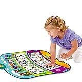 X&JJ Alphabet Puzzle Musikmatte, Musical Piano Mat Keyboard Spielmatte tragbares Instrument Spielzeug mit eingebautem Lautsprecher pädagogisches Geschenk für Kinder Kleinkind Mädchen Jungen