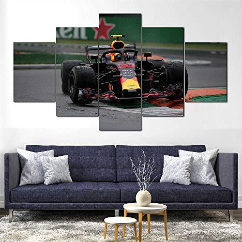 SHENQI- 5 Piezas Lienzos Cuadros Pinturas- Póster Red Bull Rb14 F1 Car...