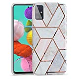 UCMDA Case for Samsung Galaxy A51, Soft TPU Marble Pattern