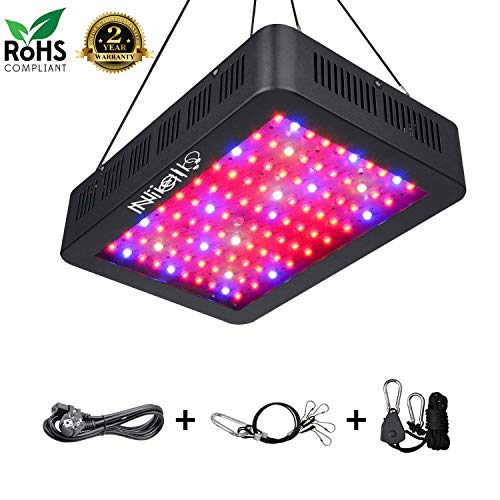 Niello® 1000W LED Grow Light Optical Lense Series Grow Lamp Double 10W Chips Plant Light Full Spectrum with UV&IR and 100 Pcs LEDs for Indoor Plant Veg and Flower