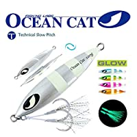 OCEAN CAT Deep Water Fast/Slow Sea Metal Lead Jig Jigging Fishing Lures Baits Tackle 100g/150g/200g/250g 240lb (Silver, 150g)