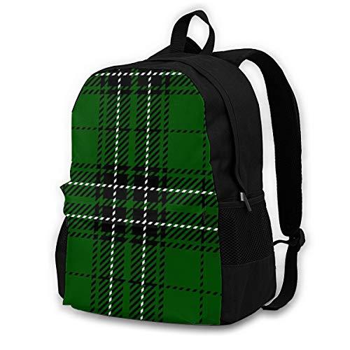 zhufeifan Backpacks Clan Mac Lean Scottish Woven Tartan Plaid Abstract Maclean School BookBags Travel Laptop Daypack Bag Purse for Girls Kids Boys Mens Womens