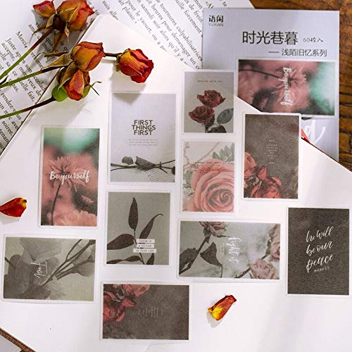 BLOUR 60 Hojas/Paquete la Vieja Memoria Pegatina de decoración álbum DIY Diario Pegatina Manual decoración Etiqueta Scrapbooking planificador Pegatina