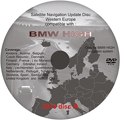 Actualización de mapas para (compatible con) BMW HIGH sistema de navegación v.2019 UK & West Europe
