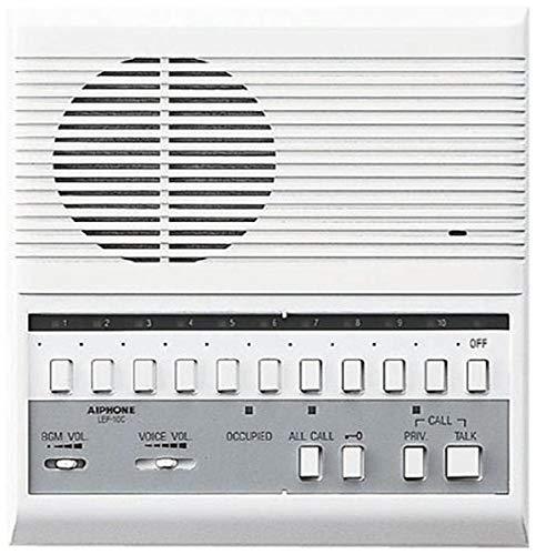 Aiphone LEF-10C Intercomunicador selectivo de voz abierta con botones de llamada y liberación de puerta; montaje semiempotrado; acepta hasta 10 intercomunicadores de puerta, submaestro o maestro