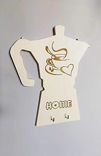 Porta strofinacci da parete personalizzabile Arredo cucina Idea regalo caffettiera in legno