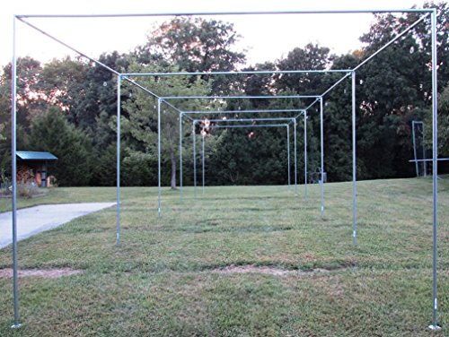Batting Cage Frame Kit 10' x 12' x 40' EZ UP & Down Baseball Softball Frame Kit