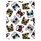 Dog French Bulldog Couch Blanket ,Fleece Throw Blanket Super Soft Warm Therma Plush Bed Couch Living Room