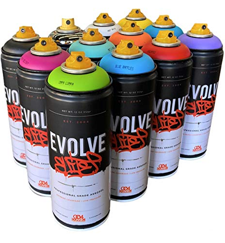 Evolve Elite 12 pack, MTN, Montana, Belton & Molotow & Ironlak Spray Paint