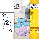 Avery White Full Face CD/DVD Label - Laser - L7676