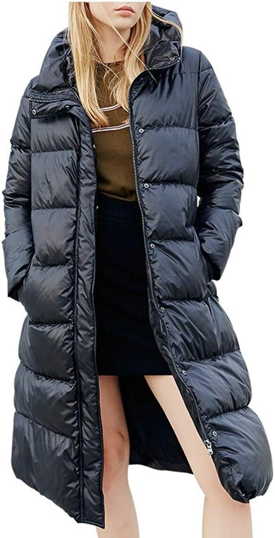 Hooded Warm Long Ladies Down Jacket Women Coat