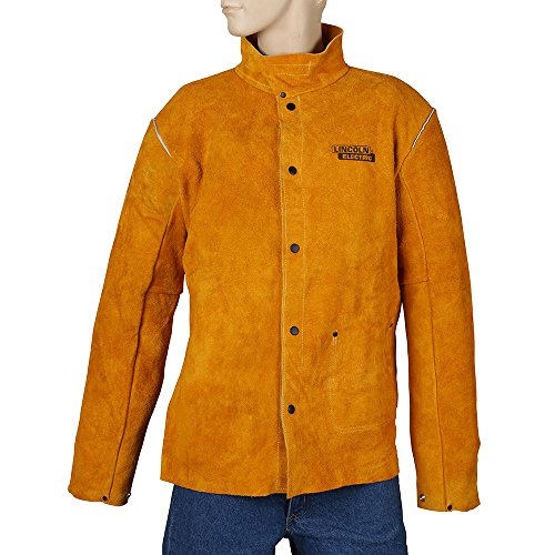 Lincoln Electric KH807XXL Brown XX-Large Flame-Resistant Heavy Duty Leather Welding Jacket