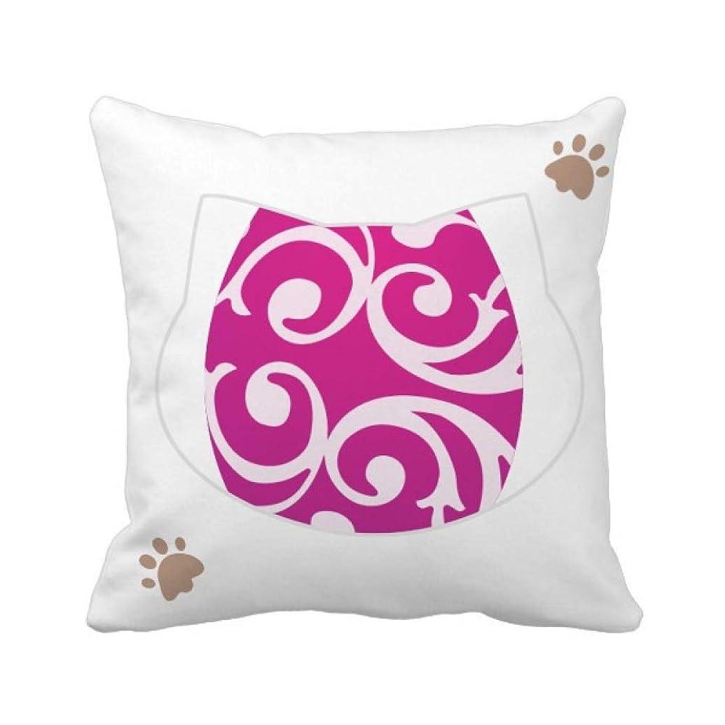 シート苦しむ系統的イースター祭紫色の卵のデザイン 枕カバーを放り投げる猫広場 50cm x 50cm
