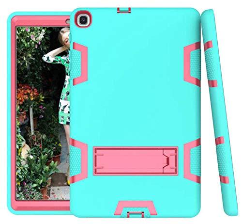 Siliconen Hoesje voor Samsung Galaxy Tab ONE 10.1 SM-T510 SM-T515 2019 Nieuwe Tablet Funda Schokbestendige Cover voor Kinderen groen roos rood