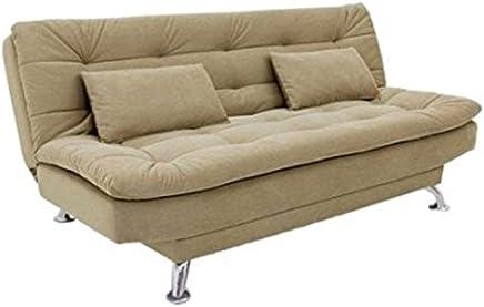 Furny Super Soft Three Seater Sofa Cum Bed (Beige)