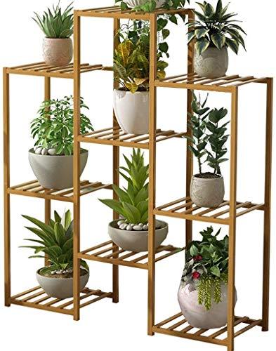 Macetero alto soporte plantas Planta de soporte de la planta de madera sólida del soporte multi-capa de cubierta for suelo de la flor de soporte multifunción de almacenamiento en rack Visualización de