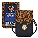 ALL STAR INNOVATIONS Touch Screen Purse by Lori Greiner Fits Most Smartphones - Stylish Crossbody with Shoulder Strap -RFID Keeps Cash, Credit Cards, Phone Screens Safe- Leopard