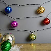 Martha Stewart Mercury Glass Globe String Lights, Battery Operated