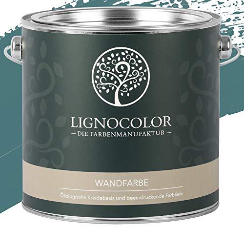 Lignocolor Wandfarbe Innenfarbe Deckenfarbe Kreidefarbe edelmatt 2,5 L (Pacific)