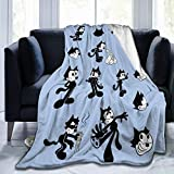 GILVARYESN Extra Soft Felix The Cat Fleece Blankets Queen Size for All Season Premium Lightweight Throw Throw Blanket for Bed Brush Fabric Warm Sofa 50''X40''