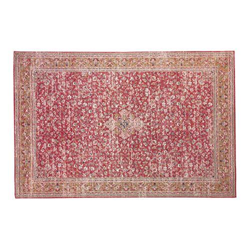 riess-ambiente.de Orientalischer Baumwoll-Teppich Old MARRAKESCH 350x240cm rot antik florales Muster Wohnzimmerteppich Läufer Wollteppich