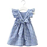 Baby nest ワンピース 女の子 ベビー服 夏 ドレス フォーマル セレモニー服 結婚式 かわいい チュールスカート ノースリーブ 綿 ブルー 100cm 24-36ヶ月