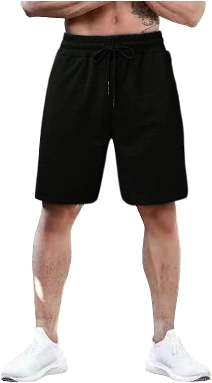 Maryia Mens Casual Sports Shorts Quick Dry Workout Running Beefy Drawstring Elastic Waist Jogging Beach Sweatpants