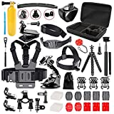 Followsun 52-In-1 Action Camera Accessories Kit for GoPro Hero (2019)/Fusion/Max/Hero 8 7 6 5 4 Hero Session 3  3 2 1 DJI OSMO Pocket AKASO Campark Crosstour VEMONT APEMAN SJcam Yi Rollei