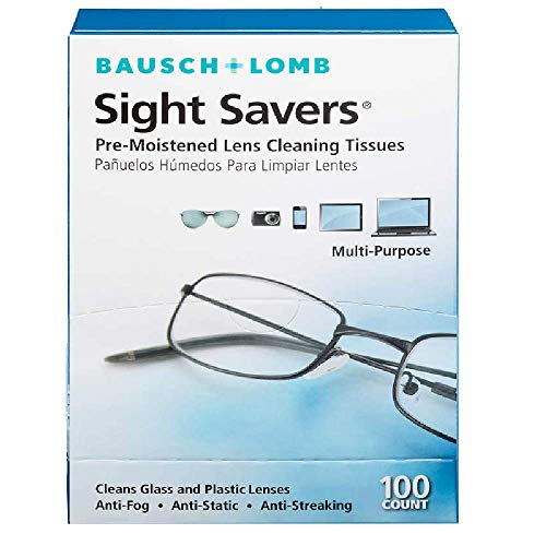 Price comparison product image Bausch & Lomb Pre-Moistened Lens Cleaning Tissues,  (Large,  2-Pack (100-Count))