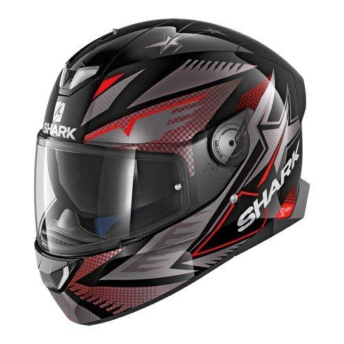 Shark 2663_26767, Caschi Moto SKWAL 2 DRAGHAL KAR-M Uomo, Nero/Rosso, medium
