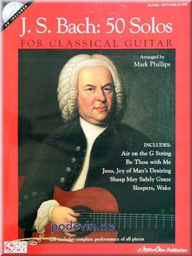 J. S. Bach 50 Solos for Classical Gitaar - gitaarreen [muziek]