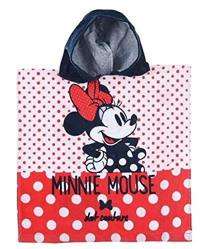 Minnie Mouse Niñas Poncho Toalla