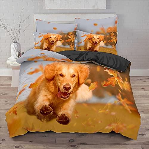 BOLAT Juego de cama de animal con diseño de perro de alta definición, estampado en 3D, para niños y niñas, regalo de Navidad (I,doble200 x 200 cm)
