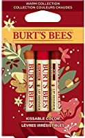 Burt's Bees Holiday Kissable Colour Gift Set, 3 Lip shimmers - Peony, Fig and rhubarb, 1 Count