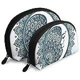 Boho Mandala Form mit Crescent Moon Vordergrund Alchemy Symbol Tragbare Taschen Kosmetiktasche...