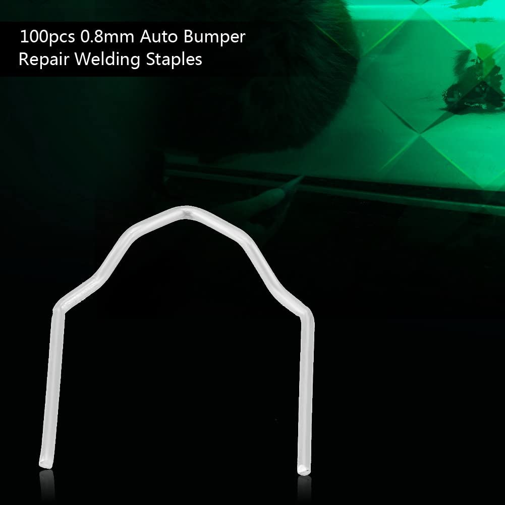100pcs 0.8mm Auto V S Wave Style Bumper Repair Pre Cut Welding Staples Staple Repair Tool Kit 3 Types Available Welding Staples S Style
