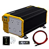 Krieger 4000 Watts Power Inverter 12V to 110V, Modified Sine Wave Car Inverter, Dual 110 Volt AC Outlets, Hardwire Kit, DC to AC...