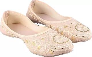 Manvi Creation white gold Jutis & Mojaris Sandal for Women's and Girl's