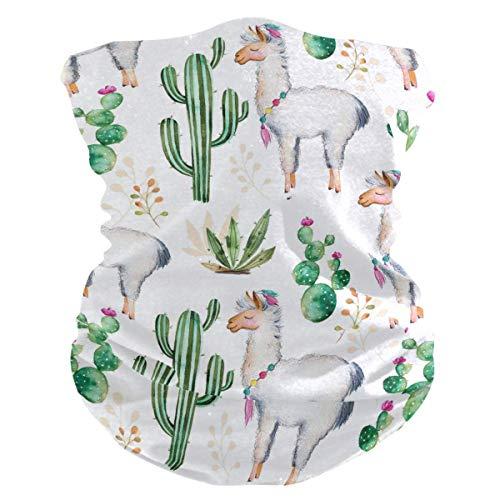 Hoofdband cactus, tropisch alpaca, dieren, uv-bescherming, zonnemasker, halsdoek, halsdoek, hoofddeksel voor dames en heren.