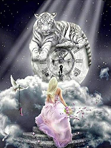 Beauty Beast Tiger Sky Classic Puzzle Jigsaws 1000 Piezas, Iq Challenge Memory Fun Game Picture 50X75Cm