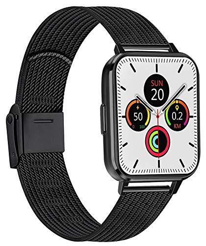 AK Cinturino Compatibile per Apple Watch Cinturino 38mm 40mm 42mm 44mm, Maglia Milanese Cinturino in Acciaio Inossidabile in Metallo per iWatch Serie 5/4/3/2/1(38/40MM, 01Nero)