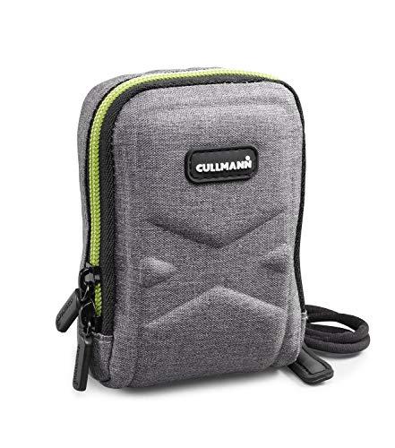 CULLMANN - 91571 - Bolsa para cámaras compactas Oslo Compact 200 (Dimensiones Interiores 70x100x30mm), Gris/limón