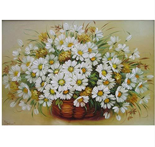 Yqgdss DIY Digital Malen Nach Zahlen EIN Korb Chrysantheme Ölgemälde Wandbild Kits Coloring Wandkunst Bild 40x50cm